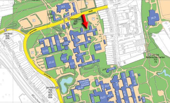 Philosophische Fakultät der HHUD: lageplan & anreise